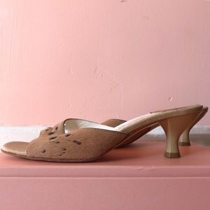 Salvatore Ferragamo Shoes - Salvatore Ferragamo Nude Pony Hair Mules